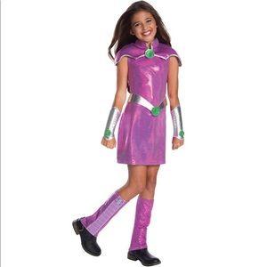 NWOT DC Starfire Costume Girls sz Lg